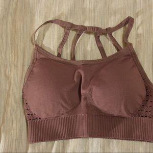Cute purple strap sports bra